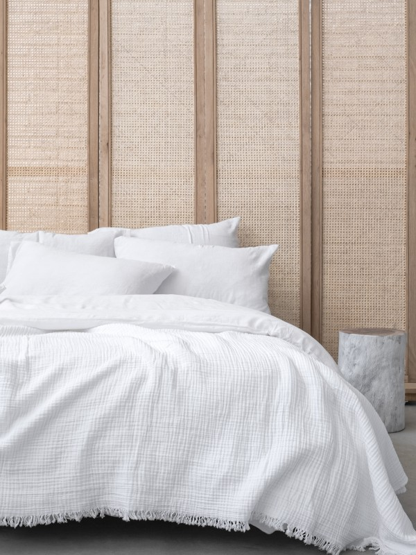 White Bed Cover - Cocoon Collection