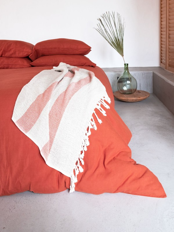 Spicy Orange Duvet Cover - Serenity Collection