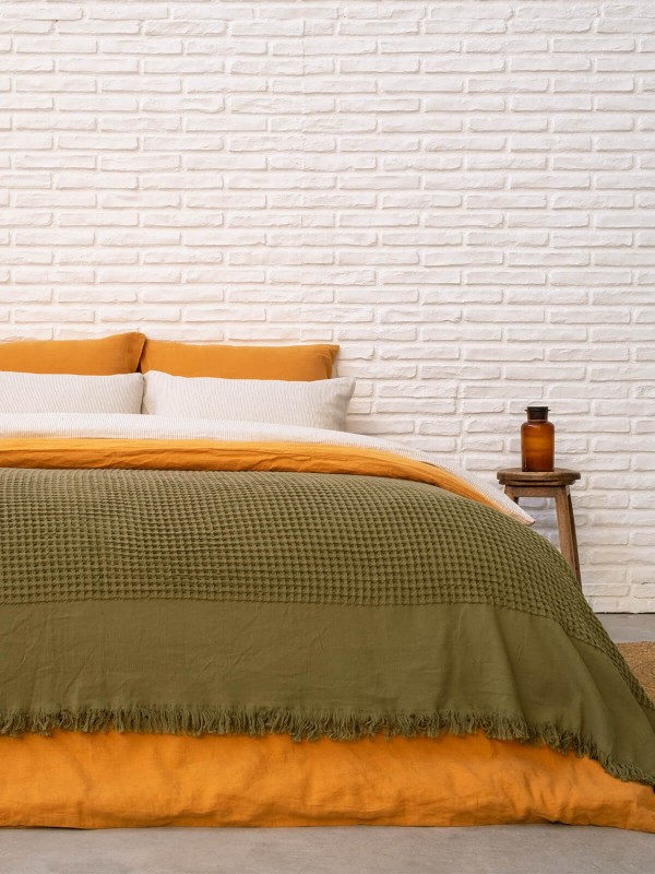 Timber Bed Cover - Waffle Collection
