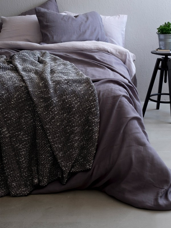Grey Throw - Wave Collection