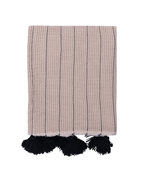 Buhur Throw - Beige/Black