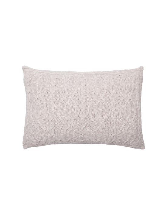 Cable Cushion - Beige