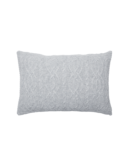 Cable Cushion - Light Grey