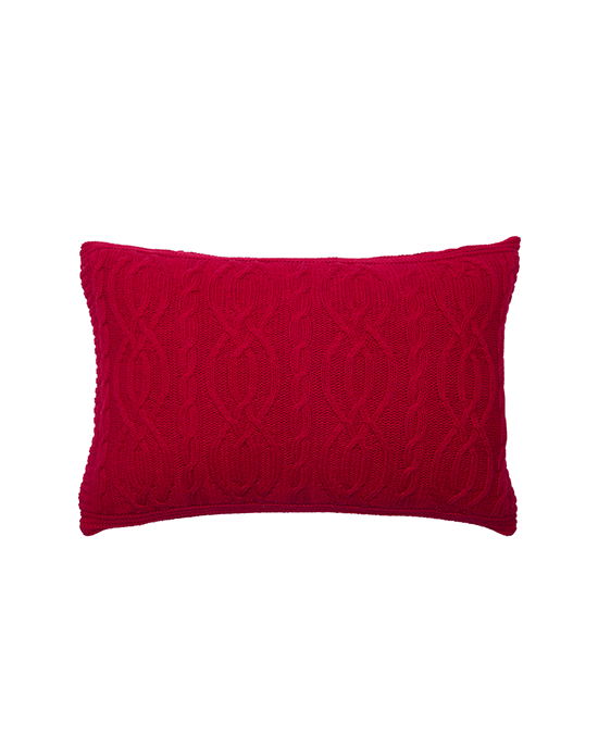 Cable Cushion - Red