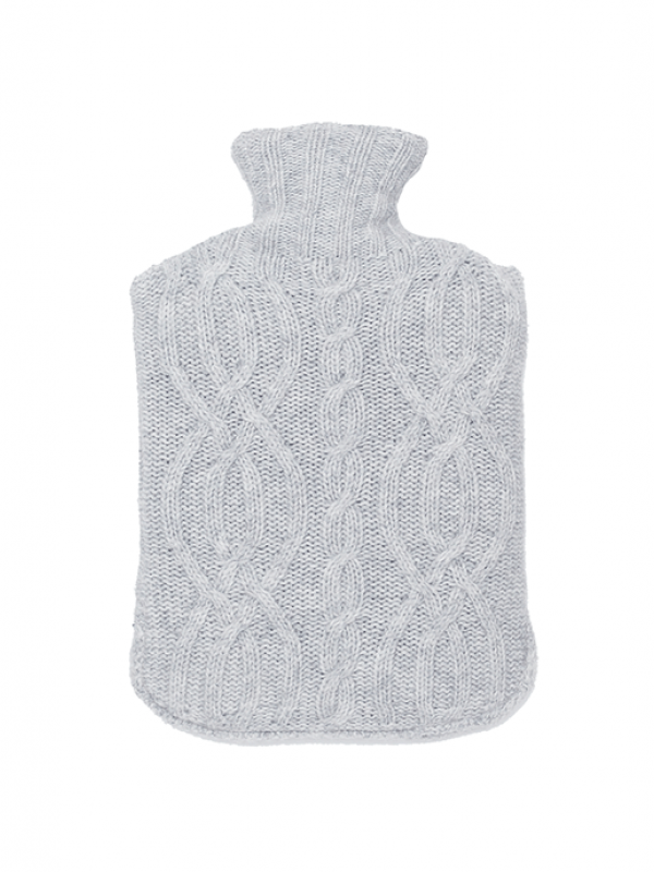 Light Grey Hot Bottle Cover - Cable Collection