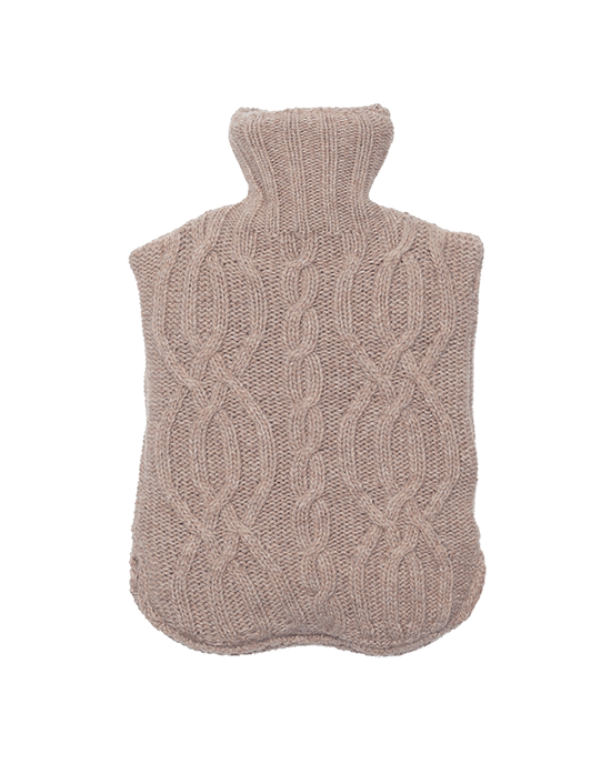 Cable Hot Bottle Cover - Mink