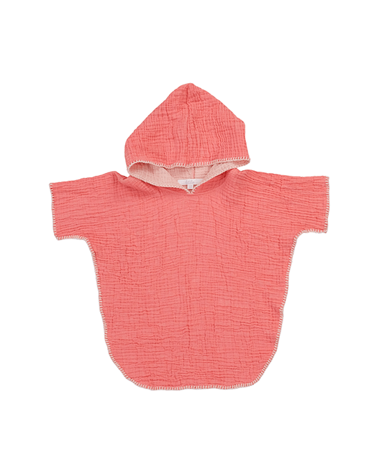 Cocoon Poncho - Coral