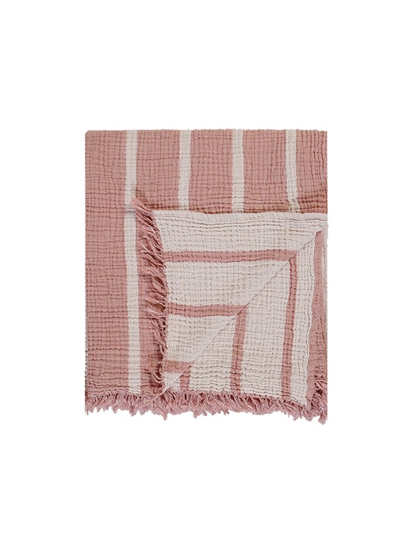 Mousse Throw - Cocoon Stripe Collection