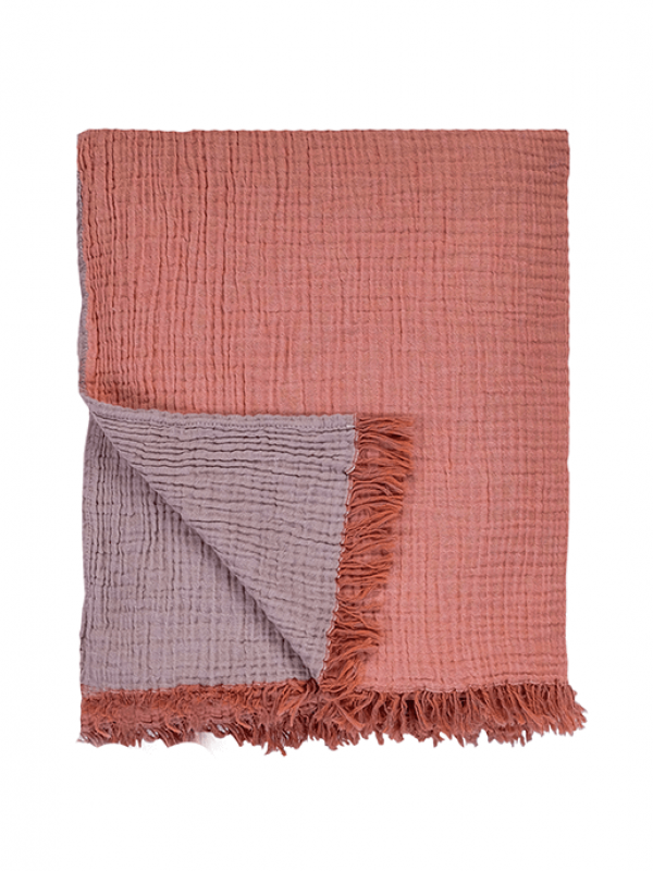Apricot/Ginger Snap Throw - Cocoon Collection