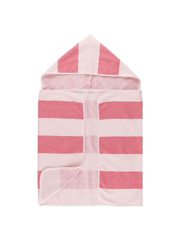 Red Baby Towel - Stripy Hooded Collection