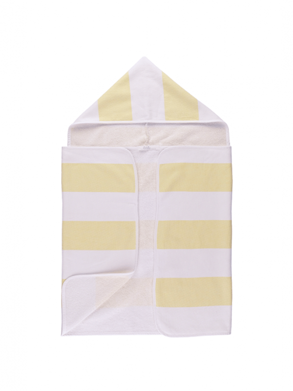 Yellow Baby Towel - Stripy Hooded Collection
