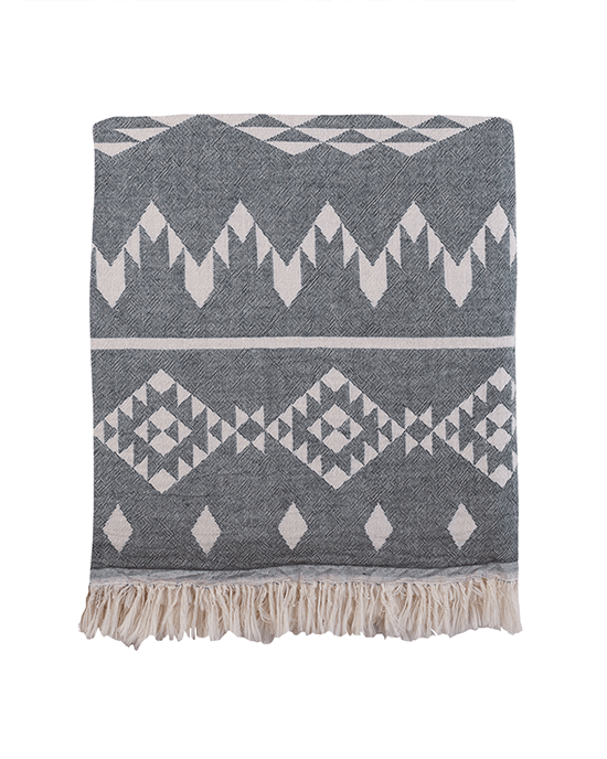 Kilim Throw - Black