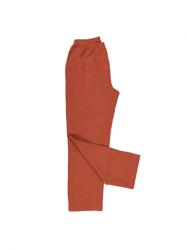 Spicy Orange Pants - Lino Collection