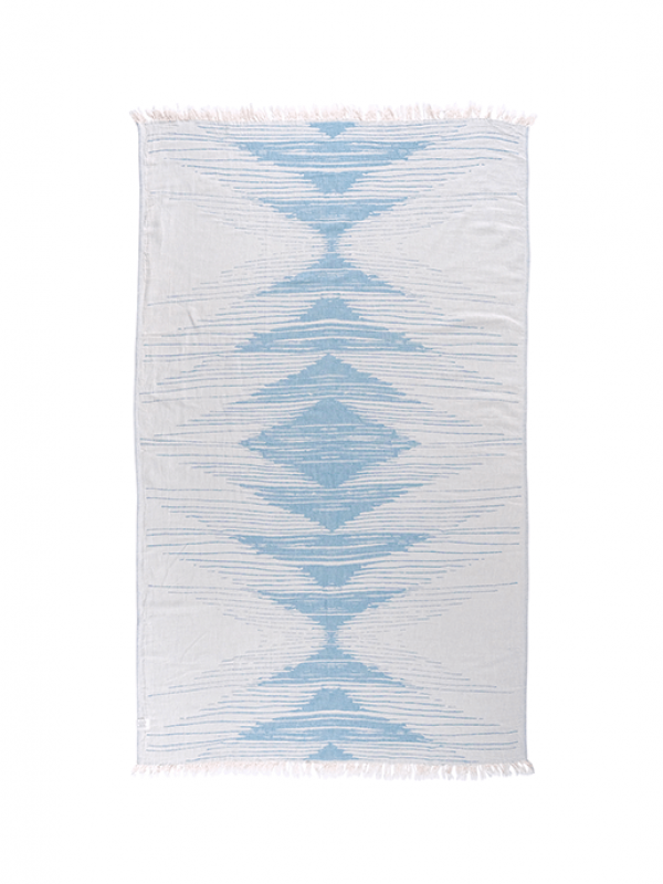 Lyons Blue Throw - Monochrome Collection