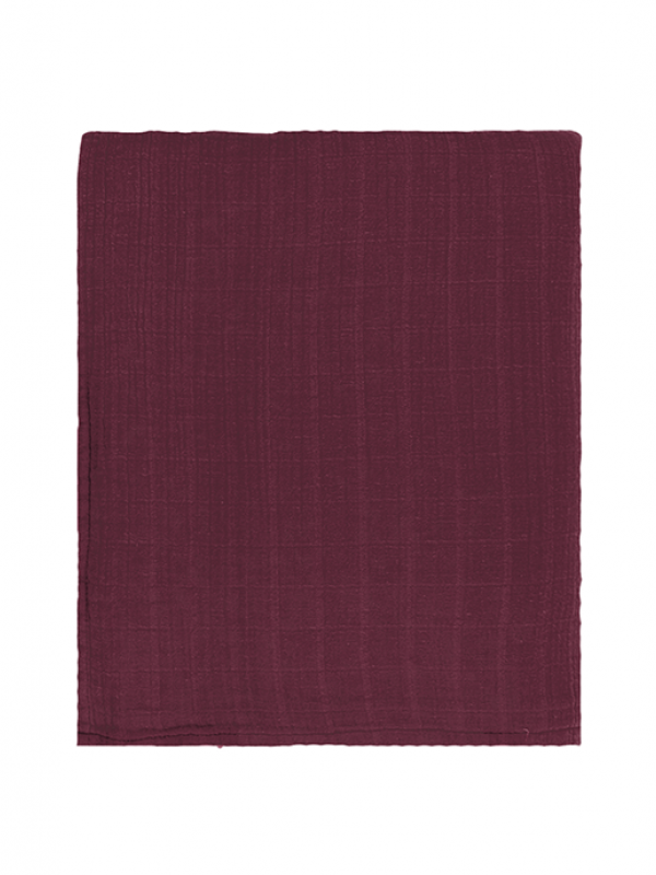 Wine Bedspread - Muslin Collection
