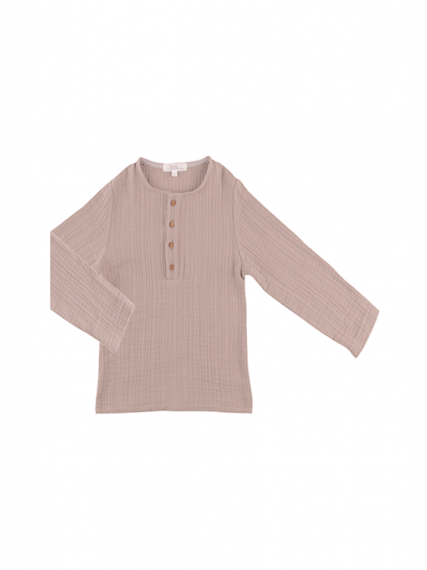 Muslin Kids Shirt - Rugby Tan