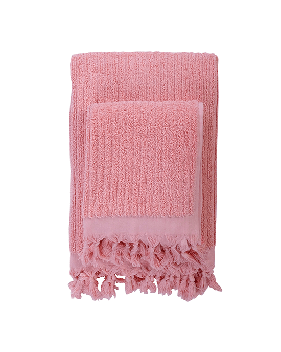 Rib Towel - Pale Blush
