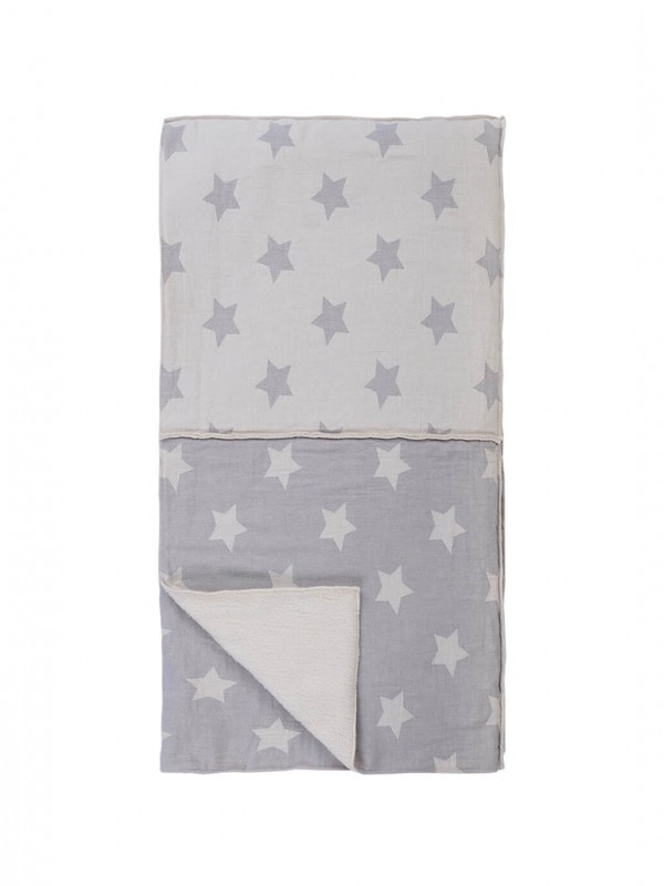 Grey Baby Blanket - Kids Star Patchwork Collection