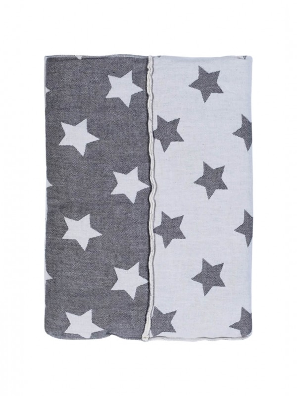 Black Throw - Star Patchwork Collection