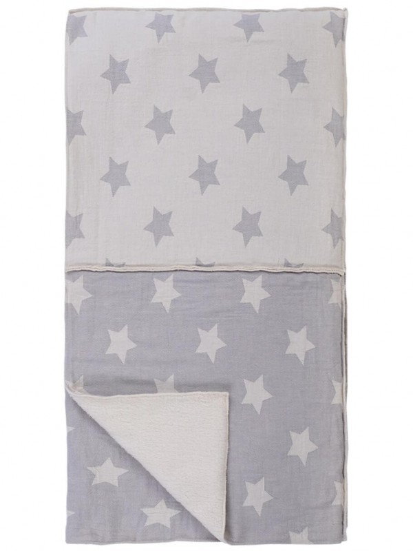 Grey Throw - Star Patchwork Collection