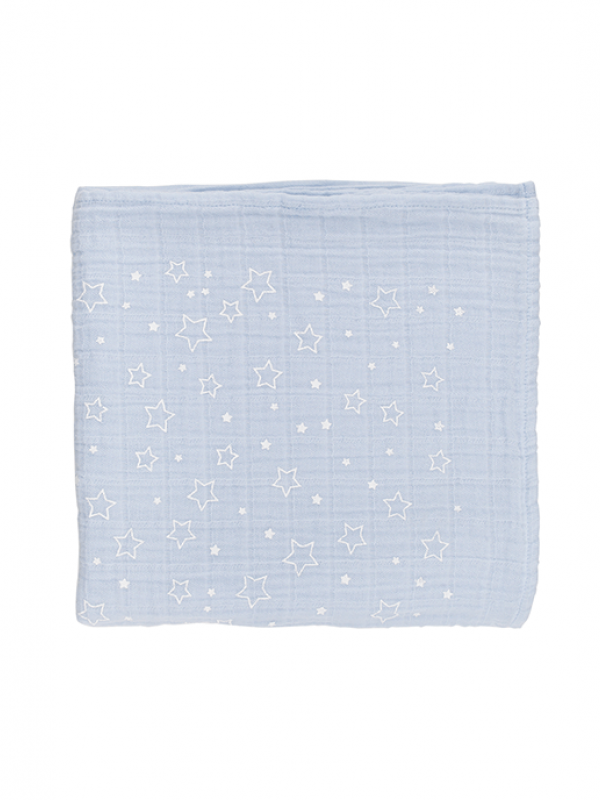 Blue Muslin - Twinkle Star Collection