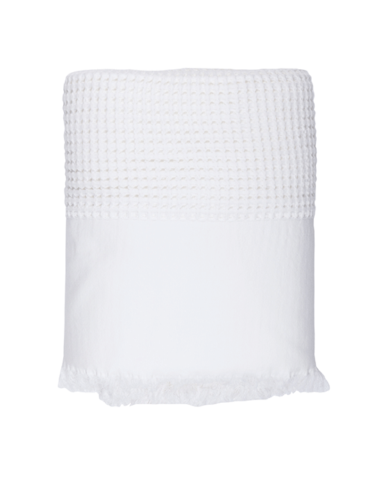 Waffle Bedcover - White