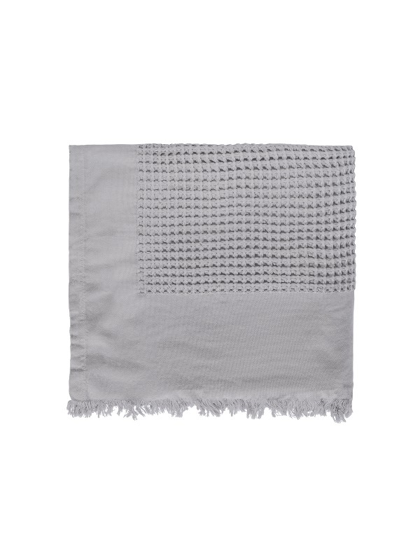 Grey Bed Cover - Waffle Collection