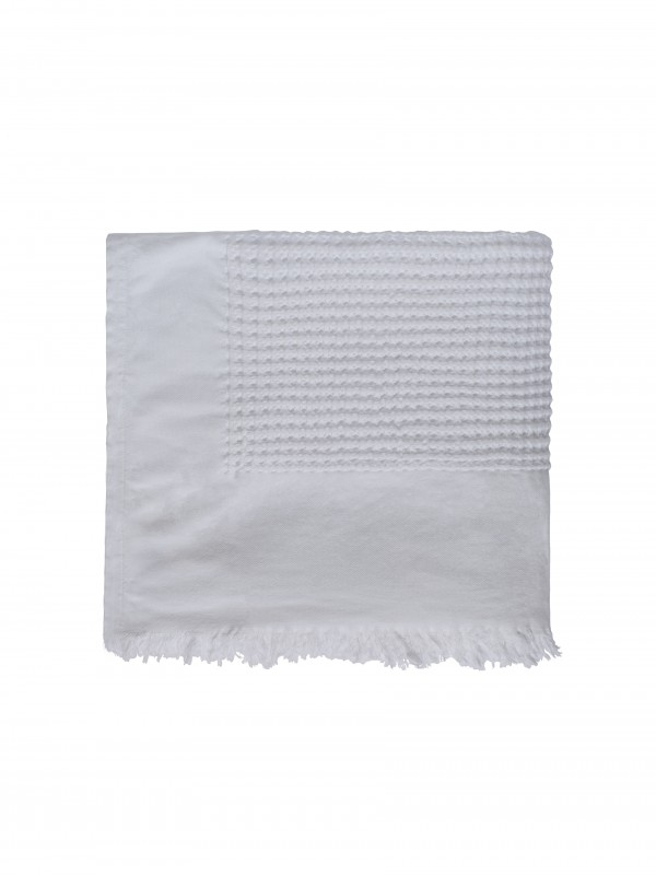 White Bed Cover - Waffle Collection