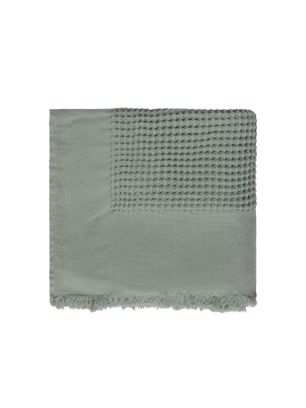Frosty Green Bed Cover - Waffle Collection