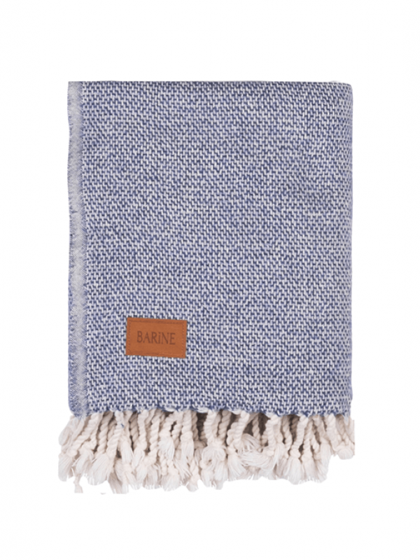 Indigo Throw - Wool Basket Collection