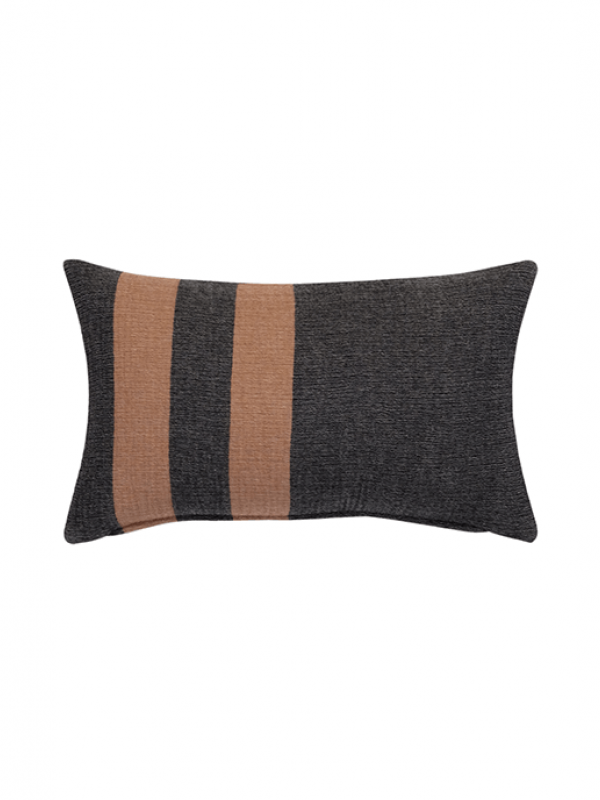 Black/Camel Cushion - Wool Cocoon Collection