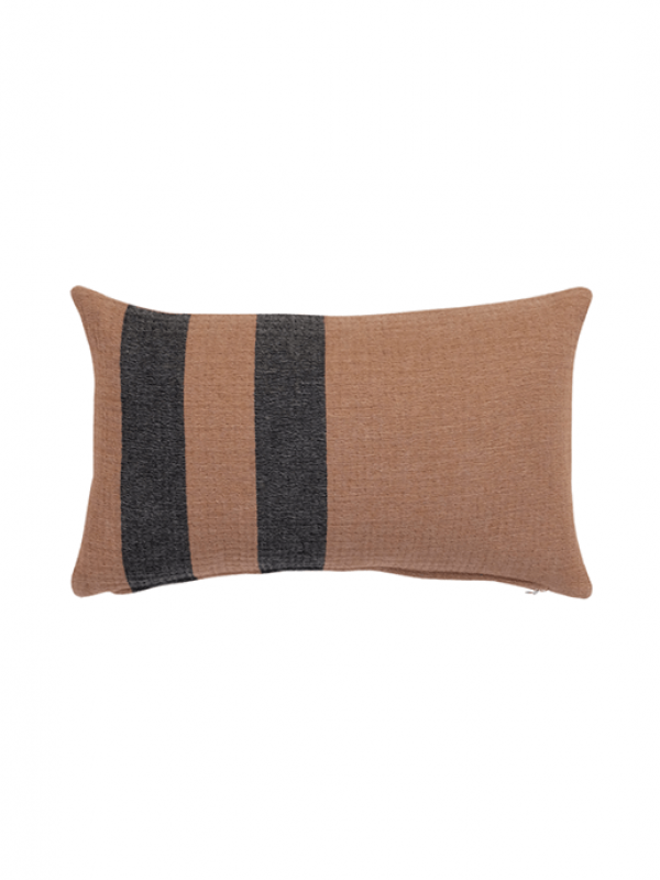 Camel/Black Cushion - Wool Cocoon Collection