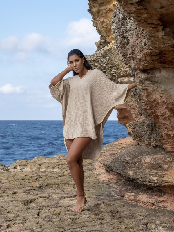 Cocoon Adult Poncho - Beige