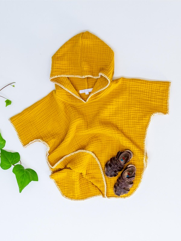 Cocoon Poncho - Curry