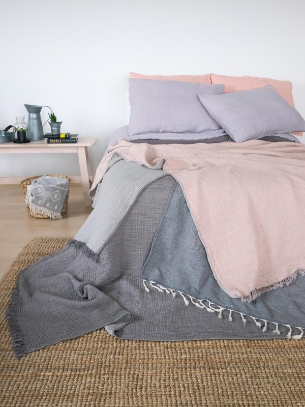 Grey Bed Cover - Cocoon Collection