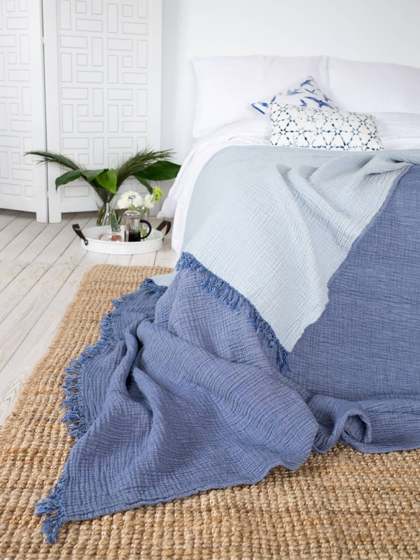 Indigo Bed Cover - Cocoon Collection