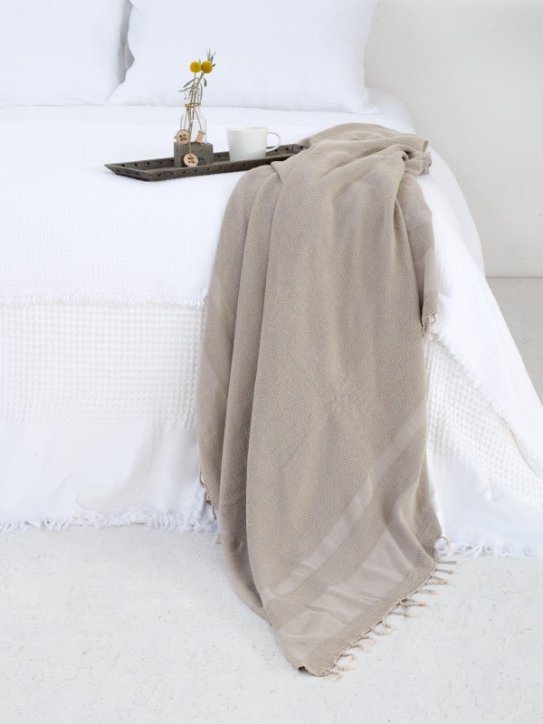 Beige Throw - Stone Collection