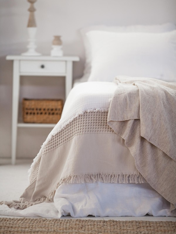 Beige Throw - Tan Collection